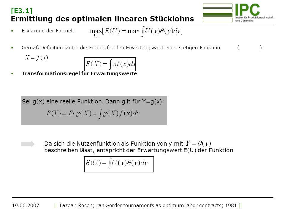 [E3.1] Ermittlung des optimalen linearen Stücklohns
